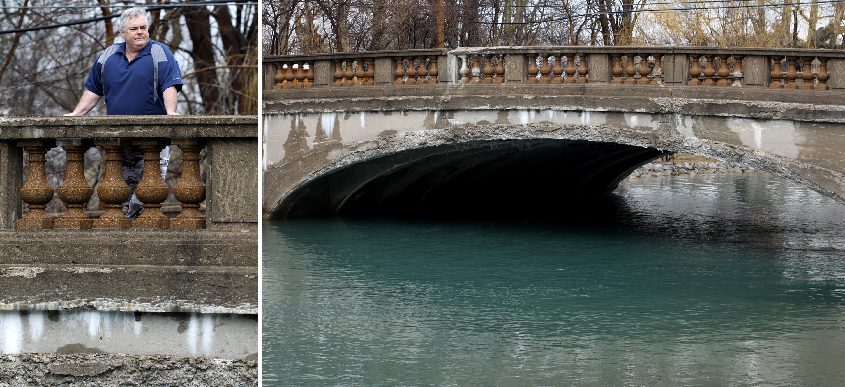 The Park Lane Road Bridge as seen on Grosse Ile in March. This bridge, built in 1930, is closed for now.