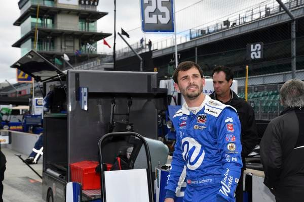 Jarrett Andretti will make his racing debut at the hallowed speedway in Indianapolis today in the lower-tier Indy Lights series.