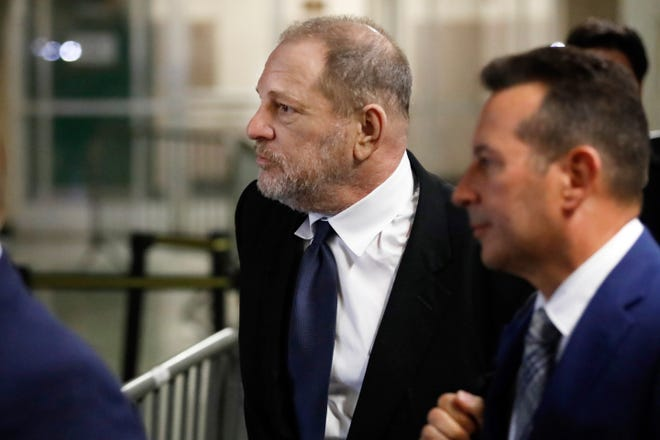 Harvey Weinstein leaves State Supreme Court, in New York, Friday, April 26, 2019.