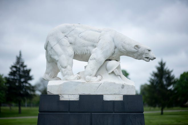 A monument for the Polar Bears stands at White Chapel cemetery in Troy. The soldiers will be remembered today.