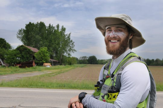 Sun protection is key as Mike Posner walks across America.