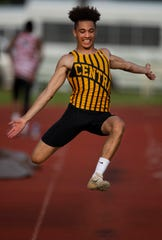 Central's Kyle Stewart placed third in the state track and field meet with a leap of 23 feet, 61/4 inches as a junior.
