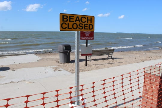 Port Clinton's City Beach will remain closed for an indefinite amount of time, as city officials seek assistance for shoreline erosion that has pummeled the beach and exposed a high voltage power conduit.