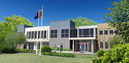 This rendering, created by DP3 Architects of Greenville, shows how the firm plans to update the exterior of the 43-year-old Greenville Chamber of Commerce building at 24 Cleveland St. in Greenville. The chamber announced on Thursday, May 23, 2019, that it had sold the building, and a trio of buyers plans to move in after renovations start in fall 2019.