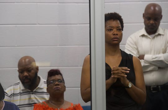 Family members of Jermaine Pressley at his bond hearing in Greenville on Friday, May 24, 2019. Pressley initially told deputies he accidentally shot his daughter, Nadeja Jermainequa Pressley, 23, thinking she was an intruder breaking into their Young Street home on May 19. He is now charged with murder, police say.