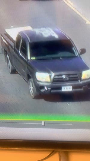 Surveillance footage captured this Toyota Tacoma which police say is involved in a May 19 purse snatching on Fujita Road in Tumon. Anyone with information about this case is urged to contact Guam Crime Stoppers at 477-4357 (HELP).