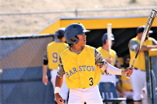 Jathan Sibal, who played outfield for the Barstow Community College Vikings, was one of three on his team selected as a First Team Western State East All-Conference Honoree.