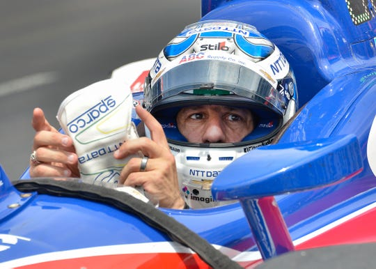 Tony Kanaan (14) of A.J. Foyt Enterprises during Carb Day at the Indianapolis Motor Speedway on Friday, May 24, 2019.