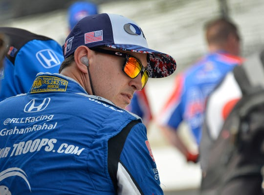 Graham Rahal (15) of Rahal Letterman Lanigan Racing during Carb Day at the Indianapolis Motor Speedway on Friday, May 24, 2019.