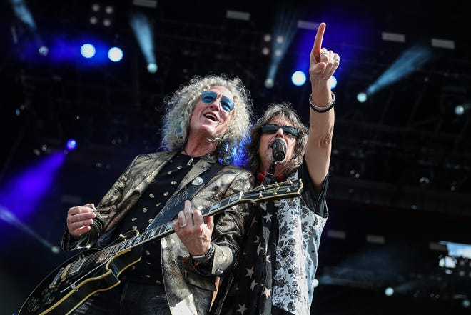 Foreigner performs on Carb Day at Indianapolis Motor Speedway, Friday, May 24, 2019.