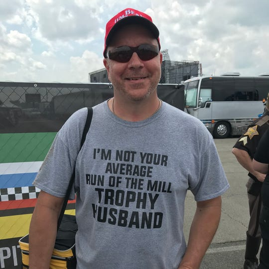 Phil Pajor, from Lafayette, said he thought this T-shirt was fitting for Carb Day.