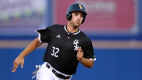 In this April 24 file photo, Southern Miss outfielder Matt Wallner runs during a game against UNO.