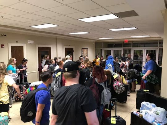 After a five-hour stay at First United Methodist Church, the group from Middleton was able to get back on the road for Washington about 10 p.m. that night.