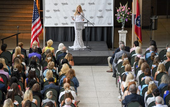 Over 150 people attended the coronation of Christine Williamson as she was officially crowned the inaugural Miss Tennessee Volunteer at the Carl Perkins Civic Center, Friday, May 24, 2019.