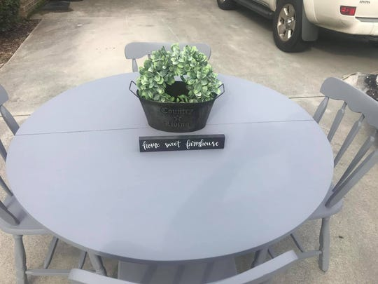"""""""I want to provide furniture to people in need through no fault of their own. Like those taking in children or burned out of their homes. I'm here for them,"""" said Debbie Lamb about her charity Redesigned for Him in Karns."""