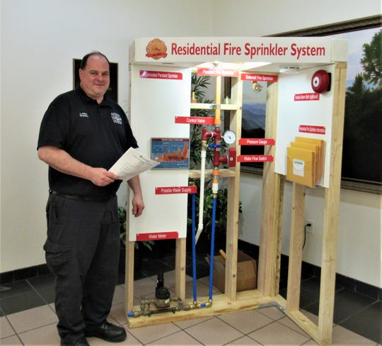 May is Building Safety Month and Farragut's Fire Marshal Dan Johnson displayed a model of a residential fire sprinkler system at the BOMA meeting on May 23. They are becoming more common, and new subdivision Easton Park is installing them in every home.  Find out more at djohnson@townoffarragut.org.