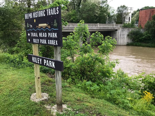 Rescue teams were searching Friday, May 24, 2019, for a 4-year-old boy who was swept away in a swollen Deer Creek in Delphi's Riley Park on Thursday.