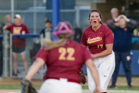 McCutcheon's Heather Johnson reacts during a sectional championship softball game last spring.
