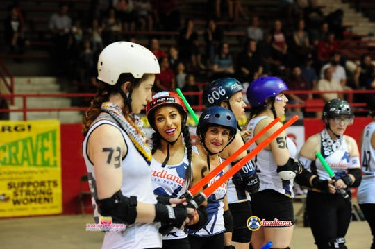 Acadiana Roller Derby's May 4 bout had a Star Wars theme.