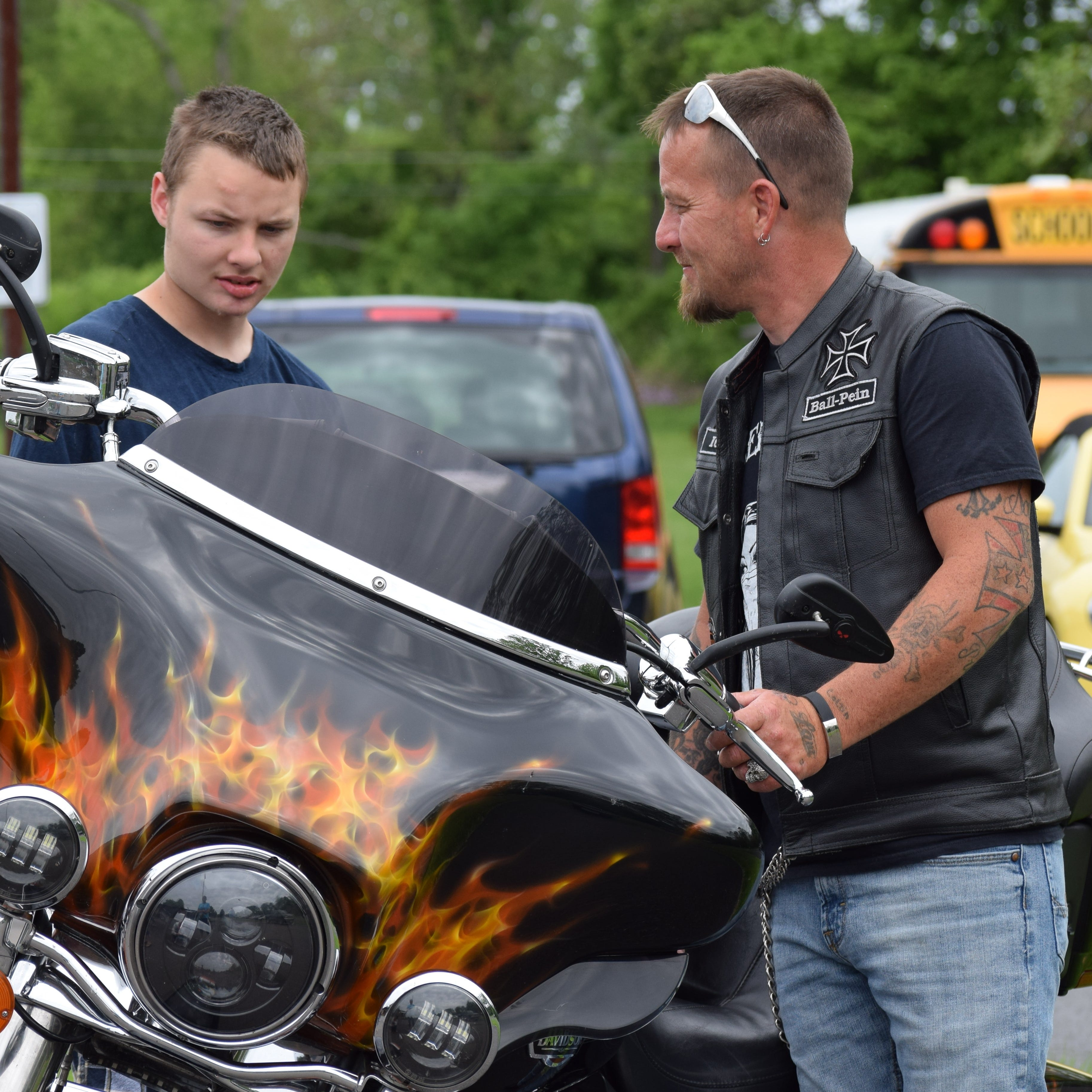 Rolling thunder event celebrates the end of the school year for Forest Rose