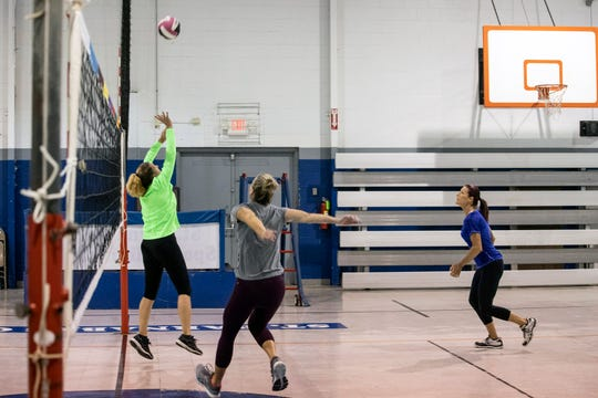 A Louisville based volleyball team called 50 Shades of Grey competes in tournaments against other women over the age of 50. 5/22/19