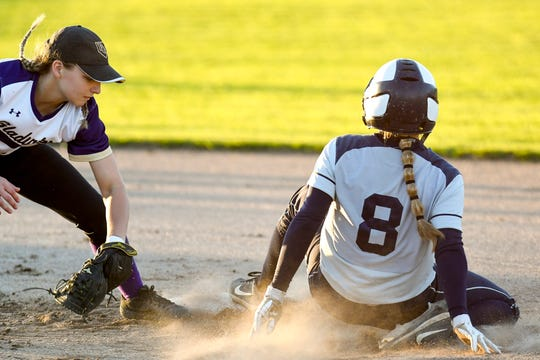 Arin Szumlinski (left) was one of the top returning softball players for Fowlerville and will be a key to success next season.