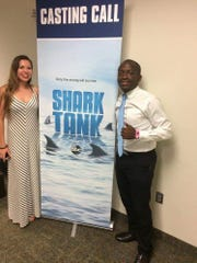 "Elma Nfor, right, along with his girlfriend, Bailey Wilson, auditioned for the hit ABC show ""Shark Tank"" back in 2017 with Nfor's product, The Bonding Tie."