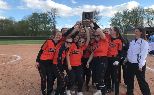 The Mishicot softball team defeated Menasha St. Mary 20-3 in three innings Thursday to win a WIAA Division 4 regional title.