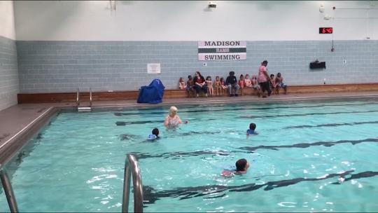 Karen Leedom Thursday night celebrated her 40th Friendly House Preschool Swim Show.