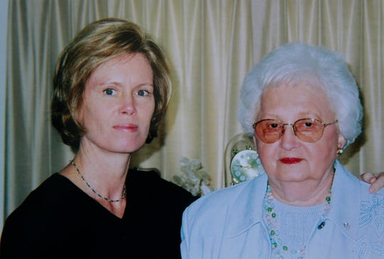 Bev Webber, left, with her mother, Helen Tschannen, in this family photo at Tschannen's 77th birthday celebration on Feb. 12, 2004.