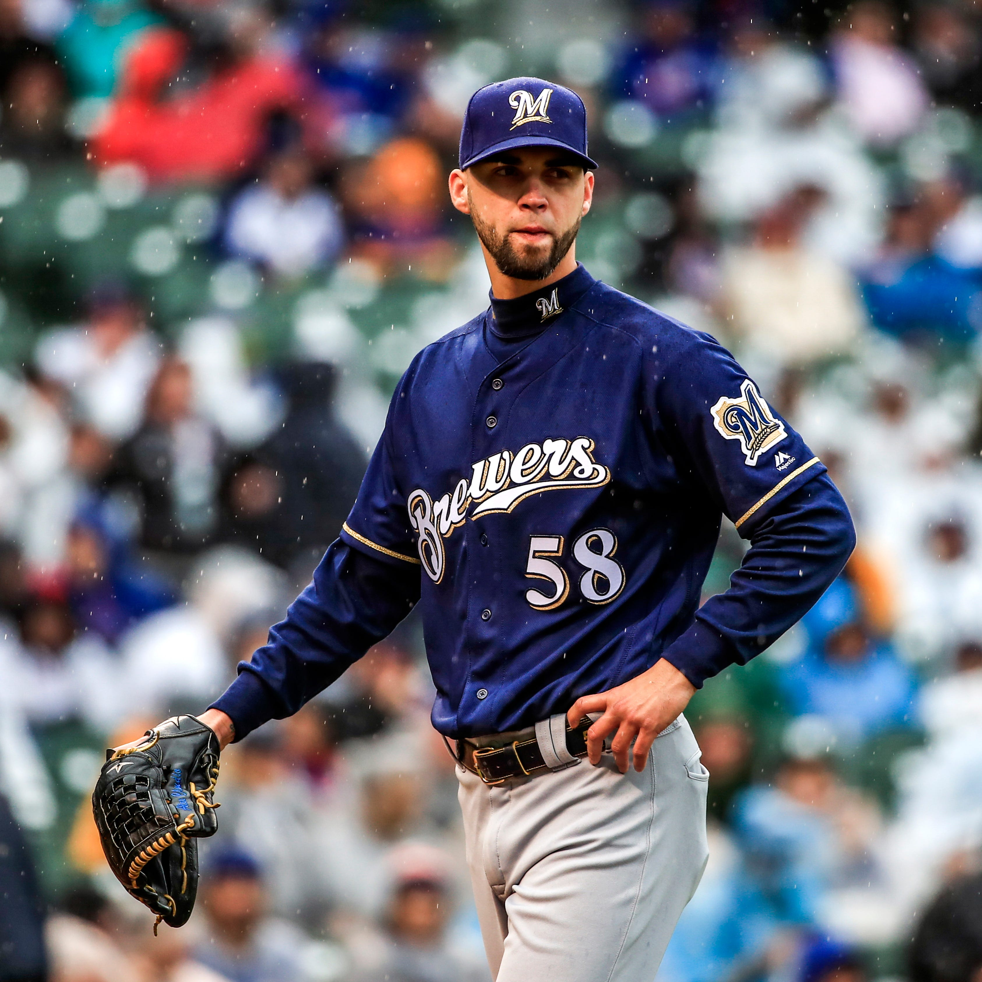 General manager David Stearns traded the Brewers'...