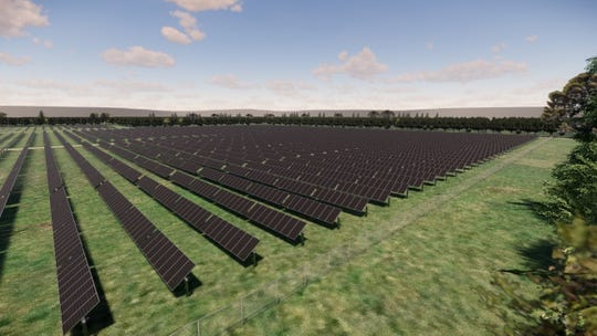 A rendering of the solar array set to be put in rural Montgomery