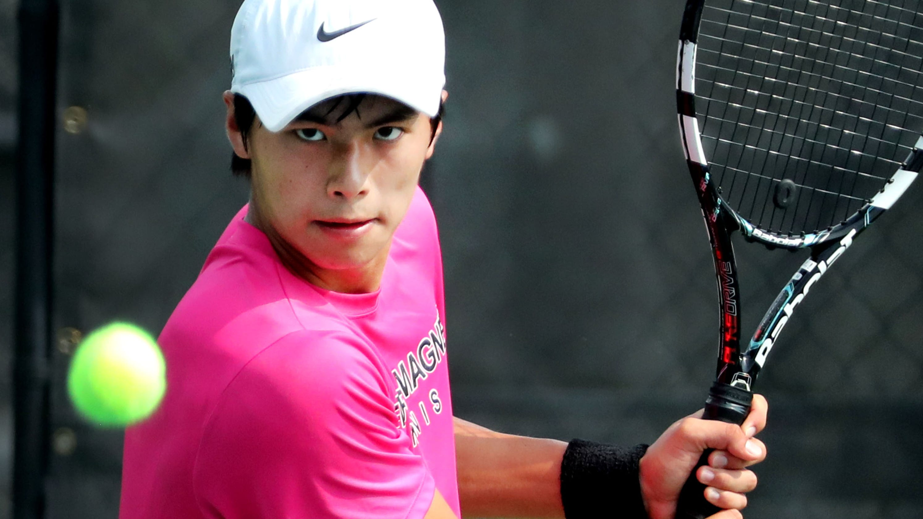 new products 957f7 7c1e4 TSSAA Spring Fling  Central Magnet s Nathan Zou falls in Large Class tennis  final