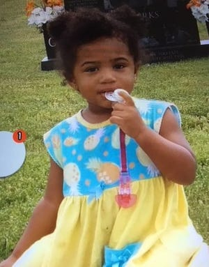 Octavia Shaw, 1 year, has been reported missing in Chattanooga.  Matias Martinez, 37,reportedly took off on foot with the child following a traffic stop on Boyscout Road, according to the Tennessee Bureau of Investigation.