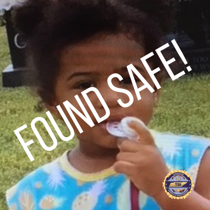 TBI: AMBER Alert canceled, toddler safely recovered in Chattanooga