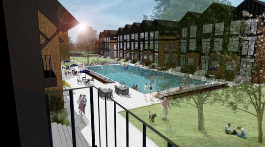 A rendering of the Vintage Station North project approved in Mt. Juliet to bring 192 apartments and 28 townhomes.