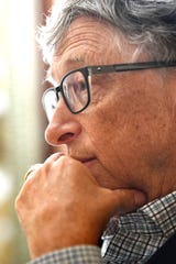 Bill Gates talks education during an interview with the Tennessean on Friday.