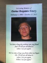 Darius Emery was 21 when he died of a fentanyl overdose in October 2015.