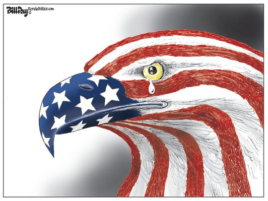 memorial Day: eagle with tear drop