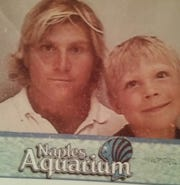 John Emery, left, poses for a photo with his son, Darius Emery ,around 1998 at the Naples Aquarium. Darius Emery died of a fentanyl overdose in October 2015.