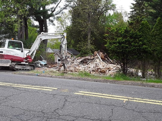 The historic Van Zile House on Godwin Avenue in Midland Park is demolished.