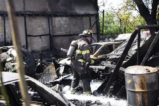 Firefighters are on the scene of a fire in Paterson on Friday May 24, 2019.