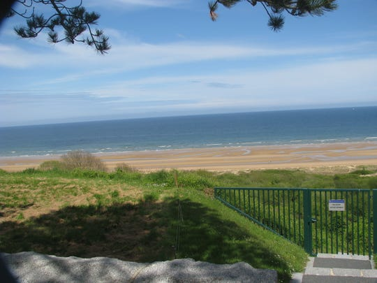 A view of Omaha Beach at Coleville-sur-Mer in Normandy, France.