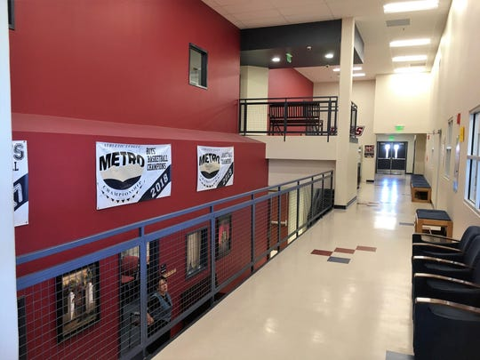 Las Montañas Charter High School, pictured here last spring, lost its internet service after a cyber attack shut down the Las Cruces Public School's indefinitely.
