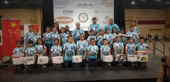 The Las Cruces Catholic School (LCCS) Robotics Team brought home three championship titles after competing in a national robotics competition this weekend in Albuquerque May 3 and 4.