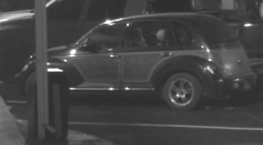 This Chrysler PT Cruiser may have been used in a shooting that damaged the Motel 6 and a Jeep May 10.