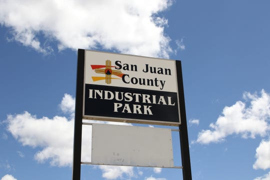 A sign is pictured to the San Juan County Industrial Park.