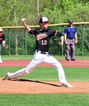 Brighton's Adam Szerlag pitched a complete game shutout against Stevenson to secure the KLAA title.