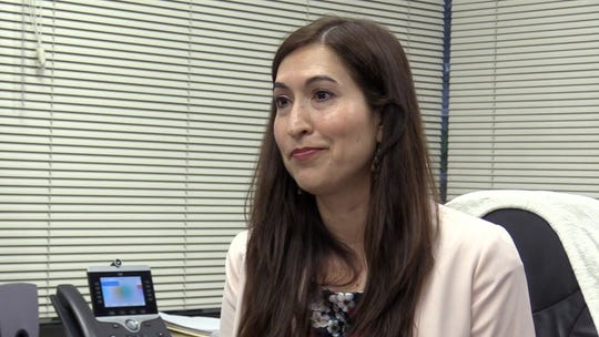 Reyna Villalobos, director of community programs at Clinica Sierra Vista in Fresno County, talks about who qualifies for Non-Resident Specialty Care funds, during an interview at her office on Tuesday, April 2, 2019.