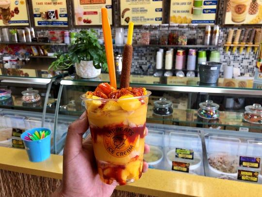 Lappert's Ice Cream in Palm Desert features mangoneadas made with mango sorbet.